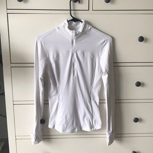 Lululemon white 1/4 zip long sleeve